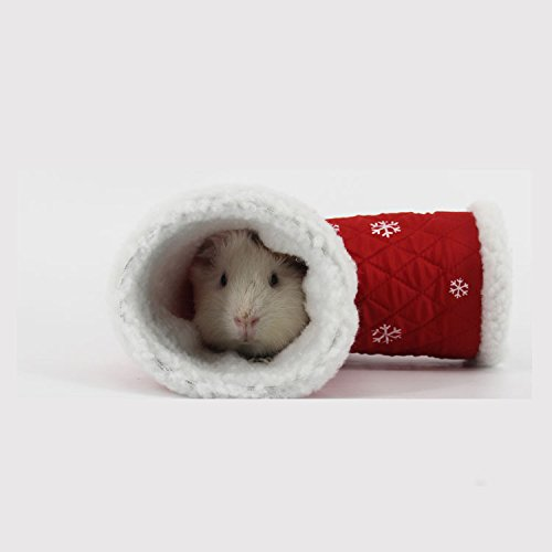 BBEART Hamster Nest, Cute Hamster Bed With Warm Soft Small Animals Playing Toy T Shape Tunnel Toy Hamster House (S, Hamster Tunnel Nest) by BBEART® (Image #4)