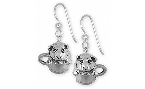 Guinea Pig Jewelry Sterling Silver Guinea Pig Earrings Handmade Piggie Jewelry GP9-E