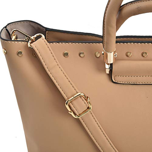 Apricot Young Leather Sally Designer Tote PU Shoulder Bags Women Handbags Ladies Sfvw0d