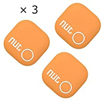 TaoFilm Pro Smart Tag Nut 2 Bluetooth Two-Way Anti Lost Tracker Tracking Wallet Key Tracer Finder Alarm Patch GPS Locator Finder for iOS | iPhone | iPod | iPad | Android (Orange 3 in 1)