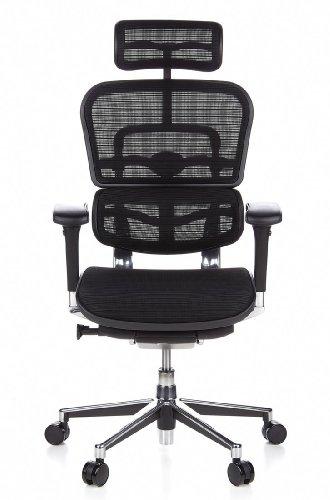 Ergohuman Bürostuhl mit Netz-Stoff, schwarz - 17