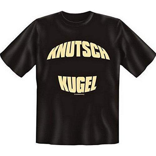 Fun T-shirt Knutsch Kugel! Fb schwarz