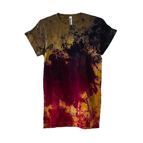 Fire Tie Dye Unisex Mens Womens T-shirt
