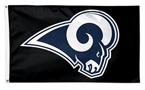Stockdale Los Angeles Rams WC BLACK w/Logo Premium 3x5 Flag Outdoor House Banner Football by Stockdale