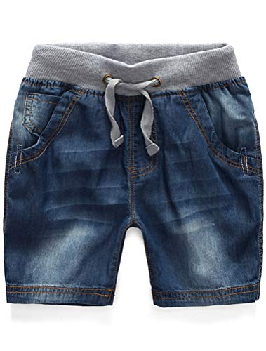 Mallimoda Boys Denim Jeans Washed Pull-On Shorts