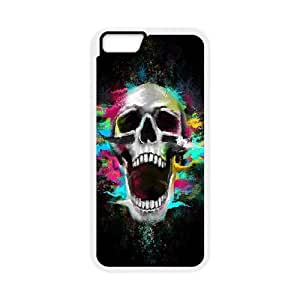 iPhone 6 Plus 5.5 Inch Cell Phone Case White Growl Shouting Skull JNR2242798