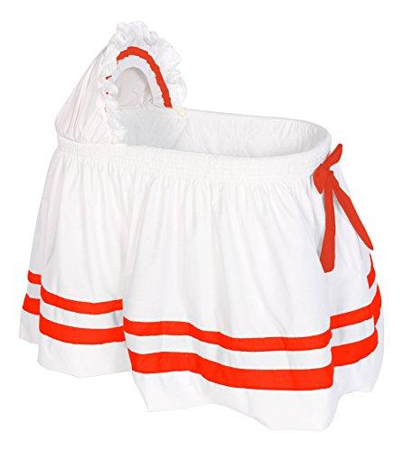 Baby Doll Bedding Modern Hotel Style II Bassinet Skirt, Orange