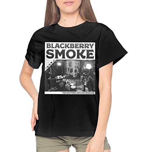 Maria D Miller BlackBerry Smoke The Southern Ground Sessions Woman's Comfortable Cotton Sexy Youth Girls T Shirts S ()