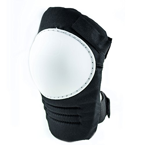(RK Safety RK-KP21 Kneepads with White Hard Sheel, Stitched Poly Cap (White, 1 Pair) )