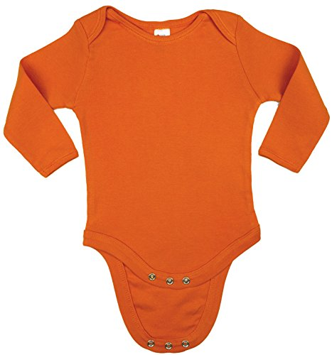 - Earth Elements Baby Long Sleeve Bodysuit 6-12 Months Orange