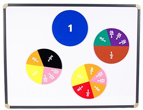 Learning Advantage 7696 Giant Magnetic Foam Fraction Circles, Grade: 1 (Pack of 51) (Foam Magnetic Fraction Circles)
