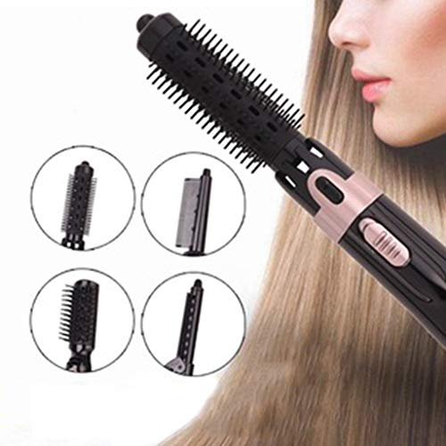 Fucung 4 In 1 Pro Hair Hot Air Brush,Hair Styler Curling Stick,Hair Comb Brush Straighter, Styling Tool Beauty Set