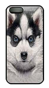 Covers Siberian Husky Puppy Custom PC Hard Case Cover for iPhone 5/5S Black wangjiang maoyi