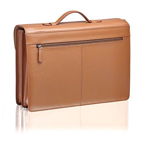 Packenger Bjorn für Laptop bis 17 Zoll aus Leder Umhängetasche, 43 cm, Vintage Braun Vintage Braun