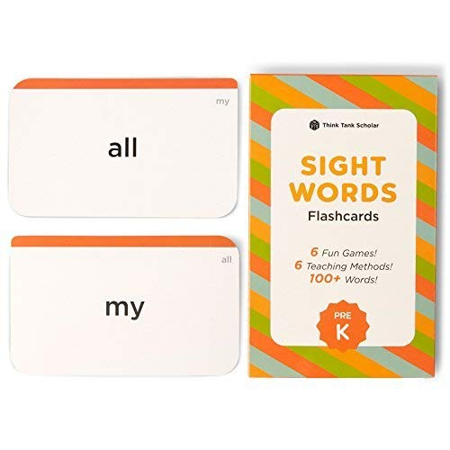 - Think Tank Scholar 100+ Pre-K Sight Words Flash Cards for Toddlers Ages 3 to 4 Years Old