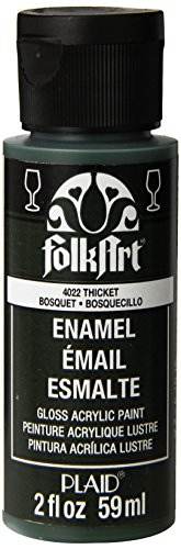 FolkArt Enamel Glass & Ceramic Paint in Assorted Colors (2 oz), 4022, Thicket