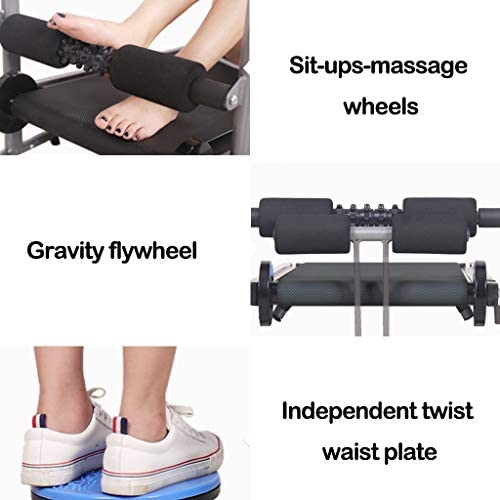 ZANFUN 4-in-1 Foldable Treadmill with Incline for Home Gym Exercise Equipment Portable Small Treadmill for Walking Running Supine Twisting Massage Weight Loss Fitness Treadmills for Small Spaces 7