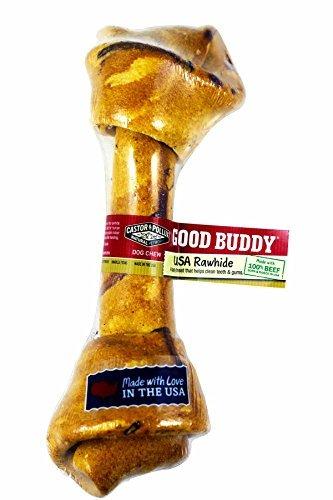 Beef Basted Bone (Castor & Pollux Good Buddy USA Rawhide Bone)