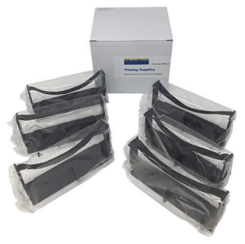 - 6 Black or Purple Compatible M-146-A M146A Fabric Printing Ink Ribbon Cartridge Replacement for ERC-32 Nylon POS Cash Receipt Register Machine/dot Matrix Printer