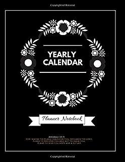 Yearly Calendar Christian Planner 2019