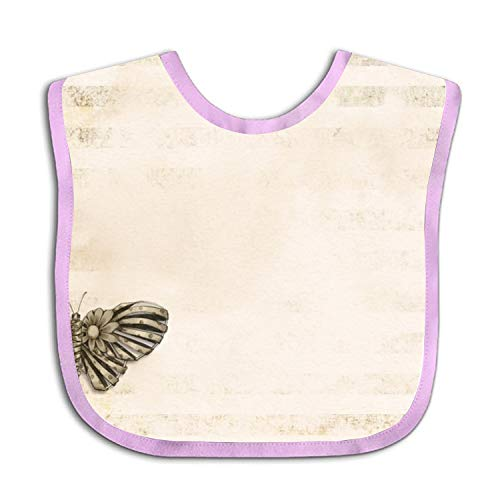 Faded Brown Butterfly Baby Bibs Unisex,Cute Baby Gift for Boys & Girls