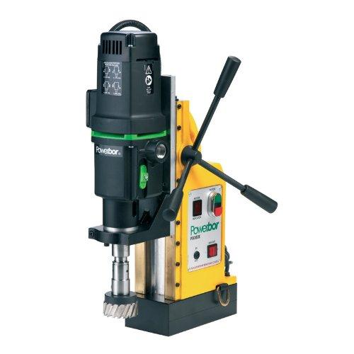 G&J Hall Tools PB1000E Powerbor Electromagnetic Drill Press, 4'' Cutting Capacity, 110V, 4-1/4'' Width x 18-7/8'' Height x 12-1/2'' Depth by G&J Hall Tools