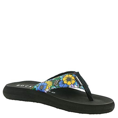 (Rocket Dog Spotlight 2 Women's Sandal 9 B(M) US Black-Multi-Floral)
