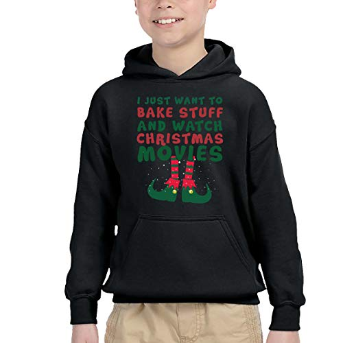 I Just Want to Bake Stuff and Watch Christmas Movies All Day 1 Boys' Hoodies