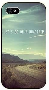 Let's go on a roadtrip - Green landscape - Adventurer iPhone 4 4S Black plastic case by icecream design