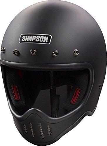 Simpson M50DM3 - Casco de 50 Puntos (Talla M, Color Negro)