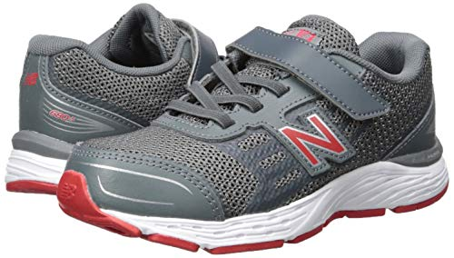 New Balance Boys' 680v5 Hook and Loop Running Shoe Lead/red 2 M US Infant by New Balance (Image #5)