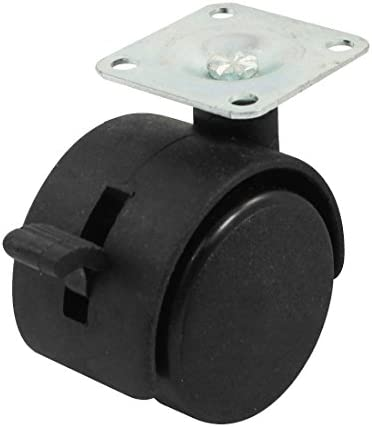 Details about  /1.5//2 Inch Swivel Office Chair Casters Alloy Plastic Twin Wheel,Top Plate Mount