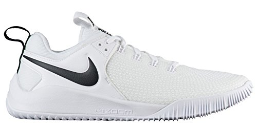 Nike Women's Zoom Hyperface 2 Volleyball Shoes (7.5 B(M) US, White/Black) (Best Girls Volleyball Shoes)