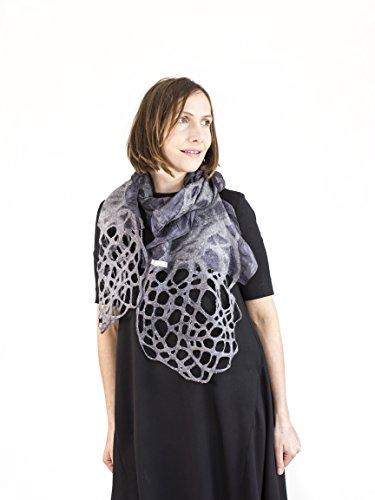 silk felt scarf kate ramsey unique handmade scarves for woment individual scarf unusual silk wrap