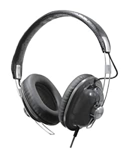 Panasonic Retro Over-the-Ear Stereo Monitor Headphones RP-HTX7-K1 (Black) Dynamic Accurate Sound, Lightweight and Comfortable