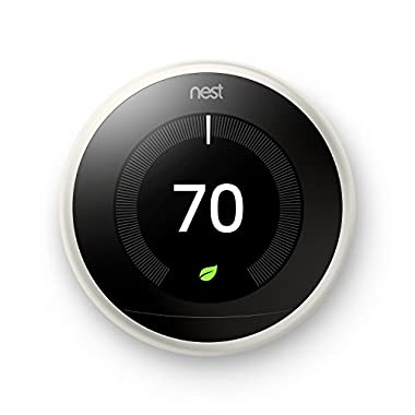 Nest Learning Thermostat 3rd Generation, White, Works with Amazon Alexa