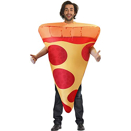 AFG Media Ltd Inflatable Pizza Halloween Costume for Men, One Size, with Included Accessories