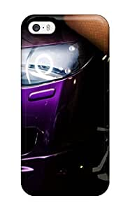 Tough Iphone HDPDDiA1242TDLpd Case Cover/ Case For Iphone 5/5s(a Girl Sitting On A Purple Car)