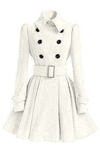 D'hiver Coton Blanc De Manches Hiver Parka Manteau Coat Manteau Veste Femme Minetom College De Longues Jacket HvxSw