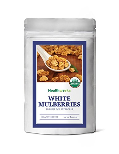 Healthworks White Mulberries Sun-Dried Organic, 8oz