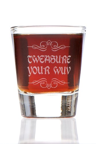 Love Shot Glass - Tweasure Your Wuv (Treasure Your Love) Shot Glass, Inspired by The Princess Bride