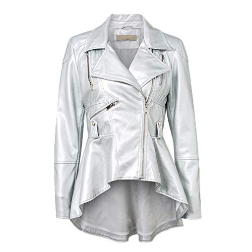HYDSFG Faux Leather PU Jackets Coats Autumn Winter, used for sale  Delivered anywhere in USA
