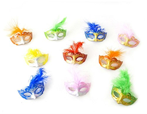 24 MIXED Mini Mardi Gras Masks Masquerade Wedding Decoration Quinceanera Favor