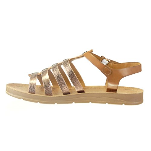 competitive price b027a d8c95 Angkorly Chaussure Mode Sandale spartiates femme peau de serpent lanière  multibride Talon compensé 2 CM Camel Jeu Cantine Faux Rabais Populaire  Remise Cest