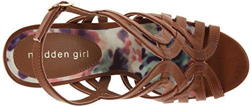 887865300243 - Madden Girl Women's Eliite Wedge Sandal, Cognac Paris, 10 M US carousel main 7