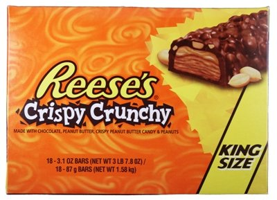 Reeses King Size Crispy Crunchy Bars 18 Count