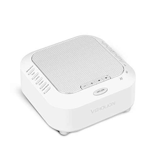 White Noise Machine for Sleeping, Soothing Sounds for Baby Adult Sleep Therapy Sound Machine Include Rain, Ocean, Lullaby, Heartbeat Timer, TF Card Support, Built in USB & LED Night Light VEHOLION S-3 by Veholion