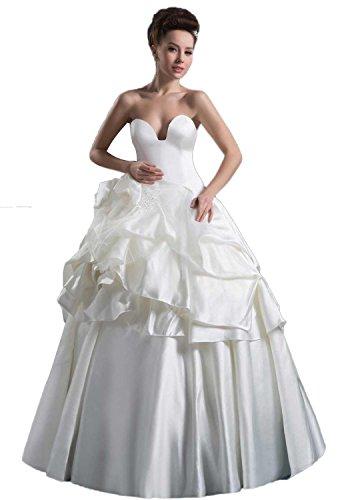 Angel Formal Dresses Taffeta Pick Ups Tier Wedding Dress(8,Red)