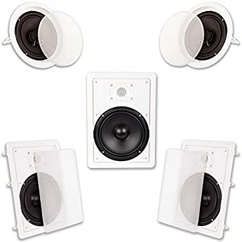Image of Acoustic Audio HT-85 in Wall in Ceiling 1500W 8' Home Theater 5 Speaker System Home Theater Systems