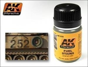 Ak Interactive Ak00025 - Fuel Stains Model Making Enamel Washes (Best Stain For Playset)